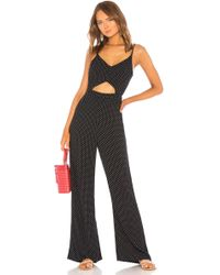 1a63ea98942b Indah - X Revolve Piper Jumpsuit In Black   White - Lyst