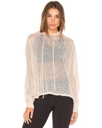 Year Of Ours - Mesh Cross Back Swing Hoodie In Pink - Lyst