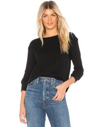 Enza Costa - Cashmere Thermal Sweatshirt In Black - Lyst