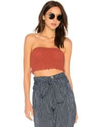 Free People - Callie Top In Rust - Lyst