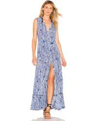 Poupette - Clara Maxi Dress In Blue - Lyst