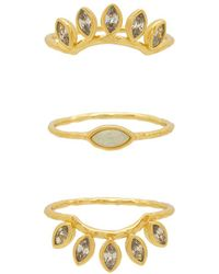 Gorjana - Rumi Burst Ring Set - Lyst