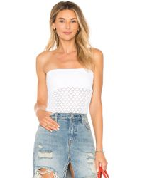 Free People - Diamond Textured Seamless Tube Top In White - Lyst