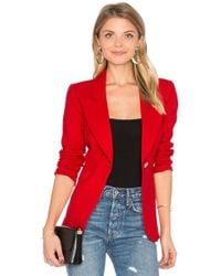 Smythe - Classic Duchess Blazer In Red - Lyst