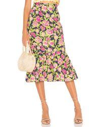 MDS Stripes - Ruffle Pencil Skirt - Lyst