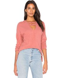 Project Social T - Carre Knot Neck Hoodie - Lyst