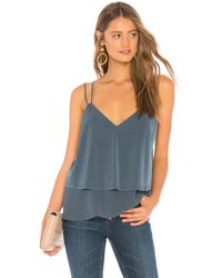 BCBGeneration - Ruffle Hem Cami In Blue - Lyst