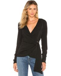 House of Harlow 1960 - X Revolve Priscilla Blouse In Black - Lyst