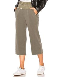 Stateside - French Terry Pant In Olive - Lyst