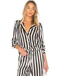 Anine Bing - Striped Pajama Shirt - Lyst