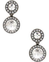 Elizabeth Cole - Dangle Earrings In Metallic Silver. - Lyst
