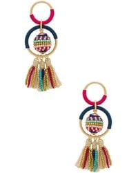 Rebecca Minkoff - Blair Beaded Ball Earrings In Metallic Gold. - Lyst