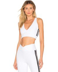 Year Of Ours - Thermal Racer V Bra In White - Lyst