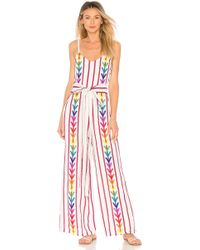 All Things Mochi - Lisa Jumpsuit In White - Lyst