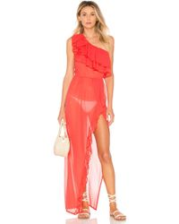 Luli Fama - X Revolve Cabaret Maxi Dress In Red - Lyst