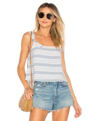 Lovers + Friends - Maybe Monday Top In Baby Blue - Lyst