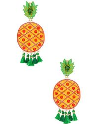 Mercedes Salazar - Fiesta Pina Verde Earrings In Yellow. - Lyst