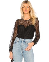 Cupcakes And Cashmere - Jenevera Top In Black - Lyst