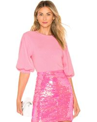 MILLY - Jersey Poof Sleeve - Lyst
