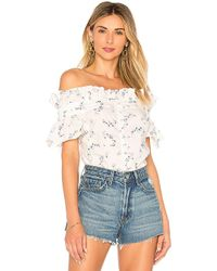 Rebecca Taylor - Francine Top In White - Lyst