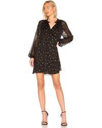 FRAME - Smocked Raglan Dress In Black - Lyst
