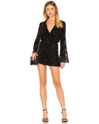 BCBGeneration - Bell Sleeve Lace Romper In Black In Black - Lyst