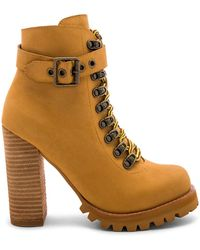 Jeffrey Campbell - Timba Bootie In Tan - Lyst