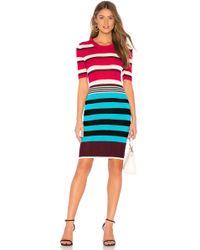 Diane von Furstenberg - Striped Sweater Dress In Purple - Lyst