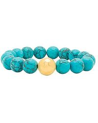 Gorjana - Power Gemstone Statement Bracelet In Turquoise. - Lyst