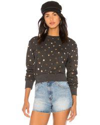 Spiritual Gangster - Stars Crop Sweatshirt In Black - Lyst