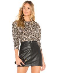 Rebecca Taylor - Leopard Sweater In Brown - Lyst