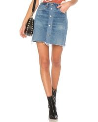 RE/DONE - Levi's High Waisted Button Front Mini Skirt - Lyst