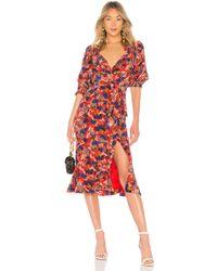 Saloni - Olivia Dress In Red - Lyst