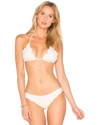 Marysia Swim - Broadway Triangle Bikini Top In White - Lyst