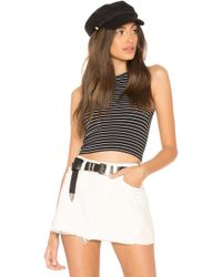 Free People - Seamless Stripe Brami In Black - Lyst