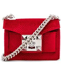 Salar - Gaia Velvet Bag In Red. - Lyst