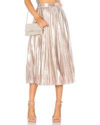 1.STATE - Pleated Midi Skirt - Lyst