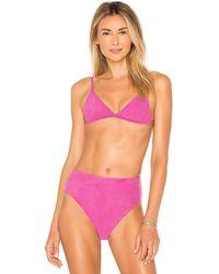 dbrie - Demi Bikini Top In Purple - Lyst