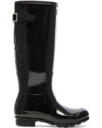HUNTER Original Back Adjustable Gloss Rain Boot