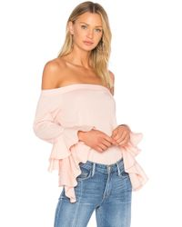 1.STATE | Off Shoulder Cascade Sleeve Top | Lyst