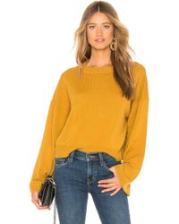 Theory - Wide Sleeve Cashmere Sweater In Yellow - Lyst