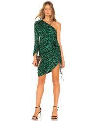 MILLY - Leopard Print Jacquard Dress - Lyst