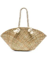 Hat Attack - Rope Handle Market Basket Bag In Beige. - Lyst