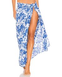 Tiare Hawaii - Sarong In Blue. - Lyst