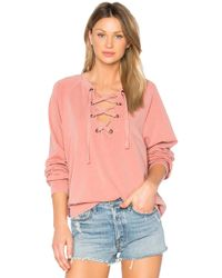 Project Social T - Slave To Love Lace Up Sweatshirt - Lyst