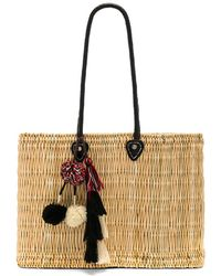 MISA - Jane Large Box Bag In Beige. - Lyst