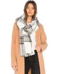 Michael Stars - Brushed Plaid Wrap - Lyst