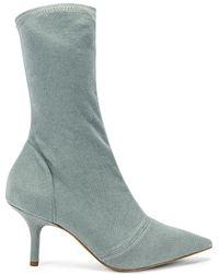 26eec7515ac4b Yeezy Season 5 Knit Sock Boots in Black - Lyst