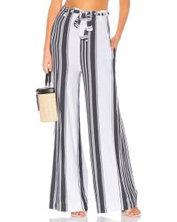 Chaser - Cool Jersey Paperbag Waist Pant In White - Lyst