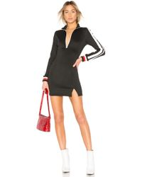 Pam & Gela | Sportstripe Mock Neck Dress | Lyst
